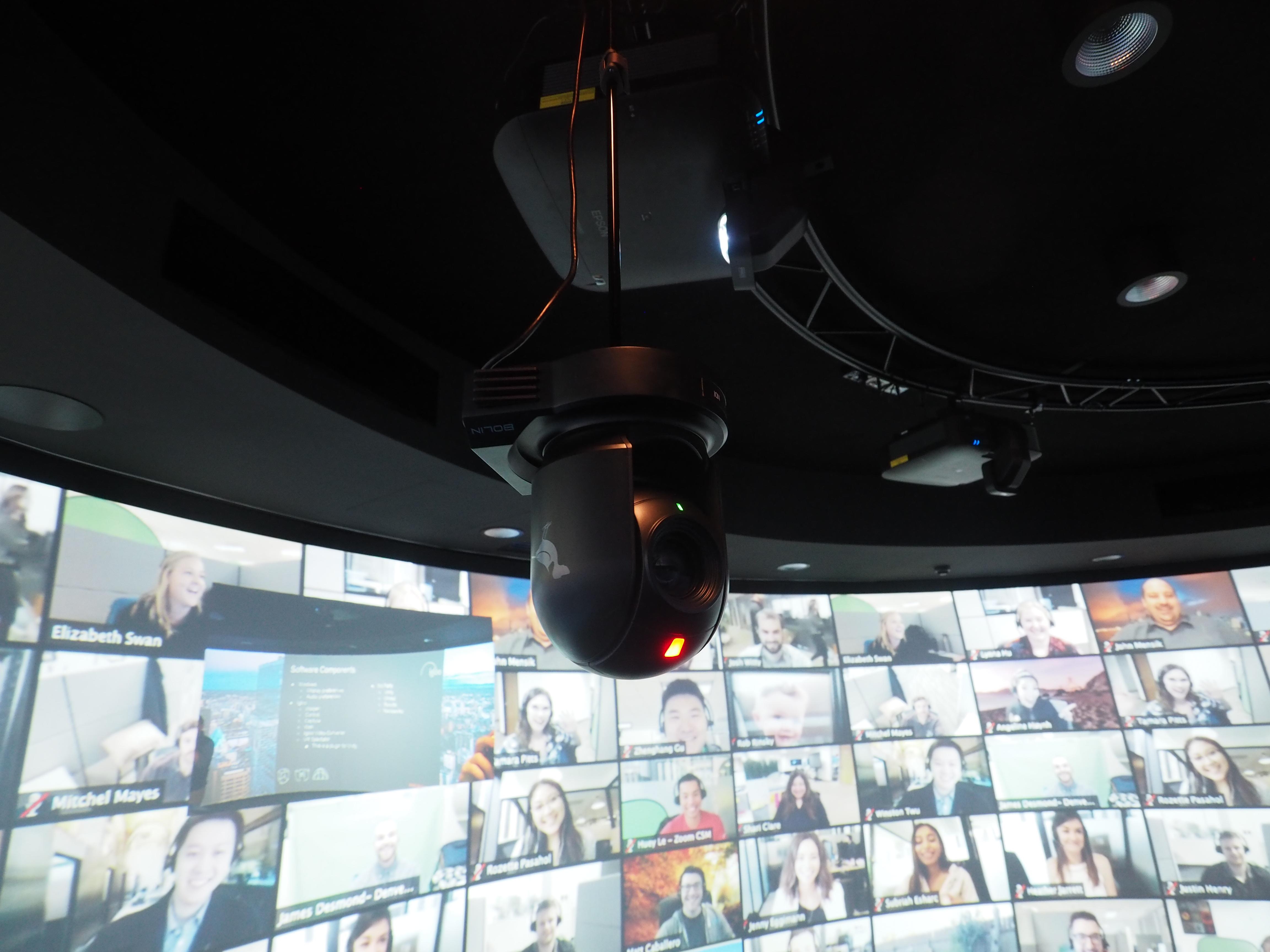 A BirdDog camera in the Deakin Imaginarium.